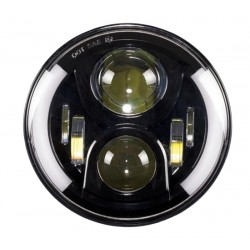 LED 7 inch koplamp model speaker, met drl