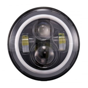 LED 7 inch koplamp model speaker, met angel eyes