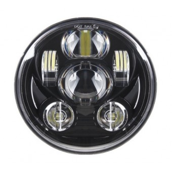 LED 5-3/4 inch koplamp model speaker, zwart