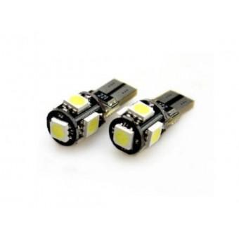 T10 / W5W LED CANBUS storingsvrij 5x SMD 5050