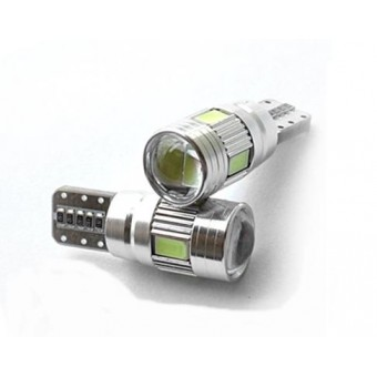 T10 / W5W LED CANBUS storingsvrij 6x SMD 5630