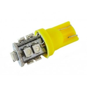 LED T10 lamp SMD 3528 12V/24V geel