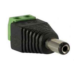 DC voeding schroefconnector male 5,5mm
