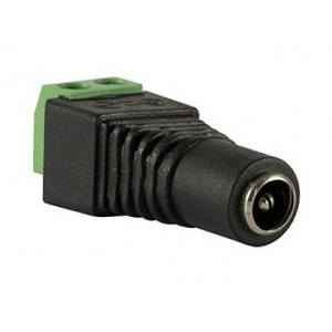 DC voeding schroefconnector female 5,5mm